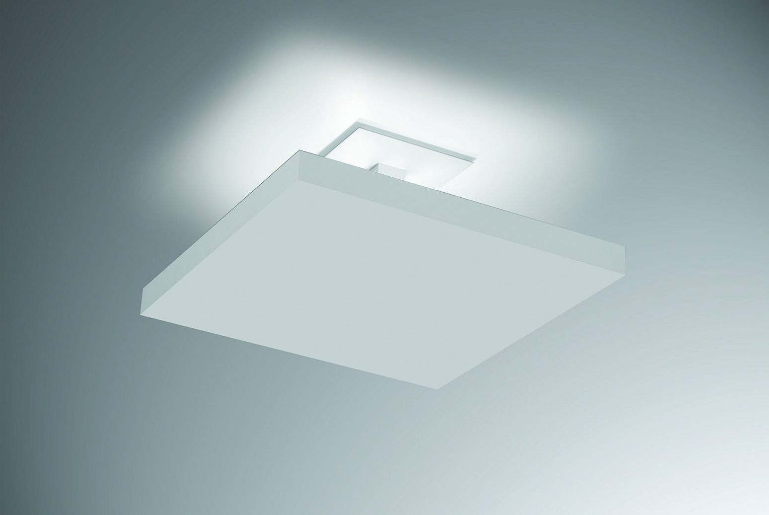 Plafon sobrepor de luz indireta 40x40cm em alumínio branco texturizado