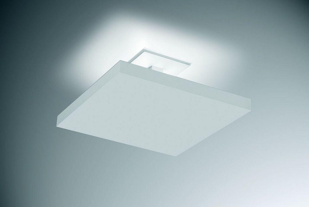 Plafon de sobrepor de luz indireta 30cm em alumínio branco texturizado