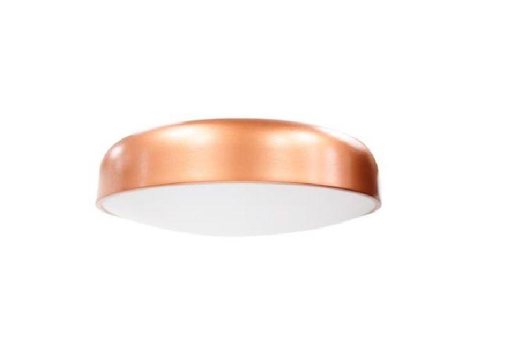 Plafon Victoria redondo 160 cobre em alumínio para 2 lâmpadas E27 29 x 9,6 cm Newline