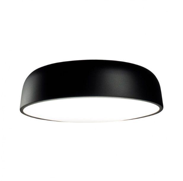 Plafon Victoria redondo 161 preto em alumínio para 3 lâmpadas E27 40cm X 11cm Newline