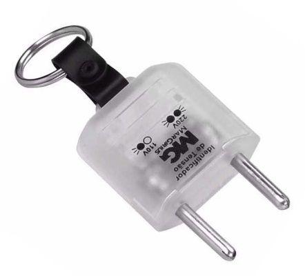 Plug Chaveiro Identificador de Tensão