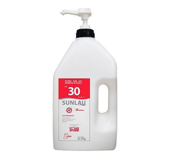 Protetor solar FPS 30 UVA/UVB com vitamina E e repelente de insetos  2kg Sunlau - Henlau