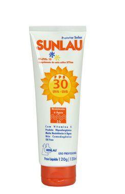 Protetor Solar FPS 30 UVA/UVB com Vitamina E 120g Sunlau - Henlau