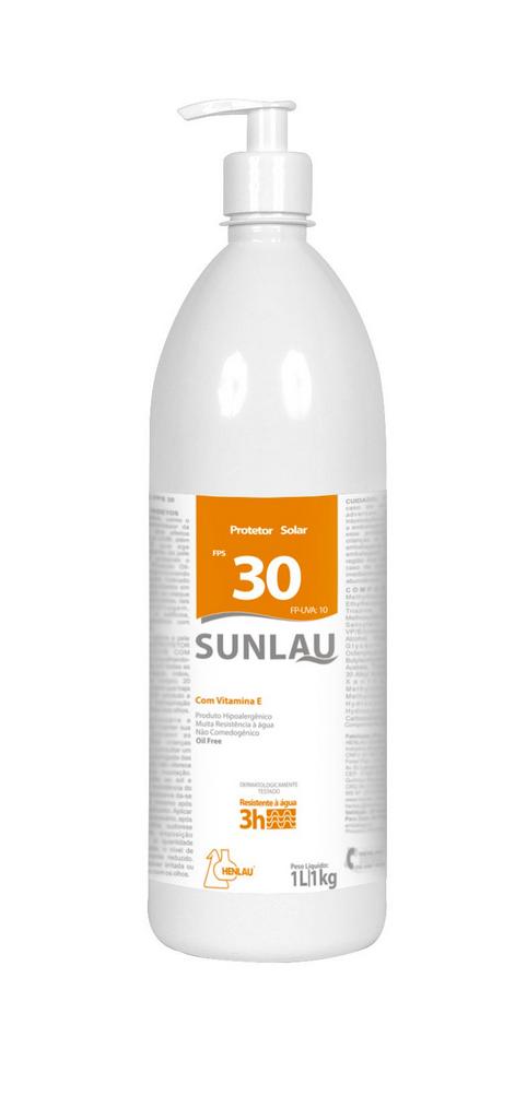 Protetor Solar FPS 30 UVA/UVB com Vitamina E 1 kg Sunlau - Henlau