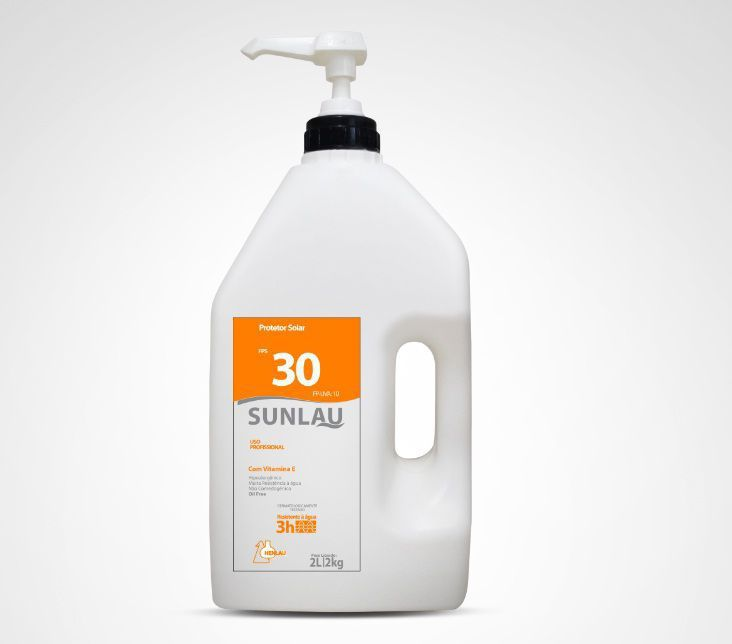 Protetor Solar FPS 30 UVA/UVB com Vitamina E 2 kg Sunlau - Henlau