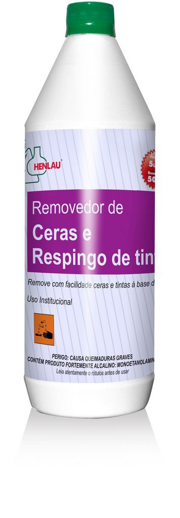 Removedor de cera e respingo de tinta 1 L - Henlau