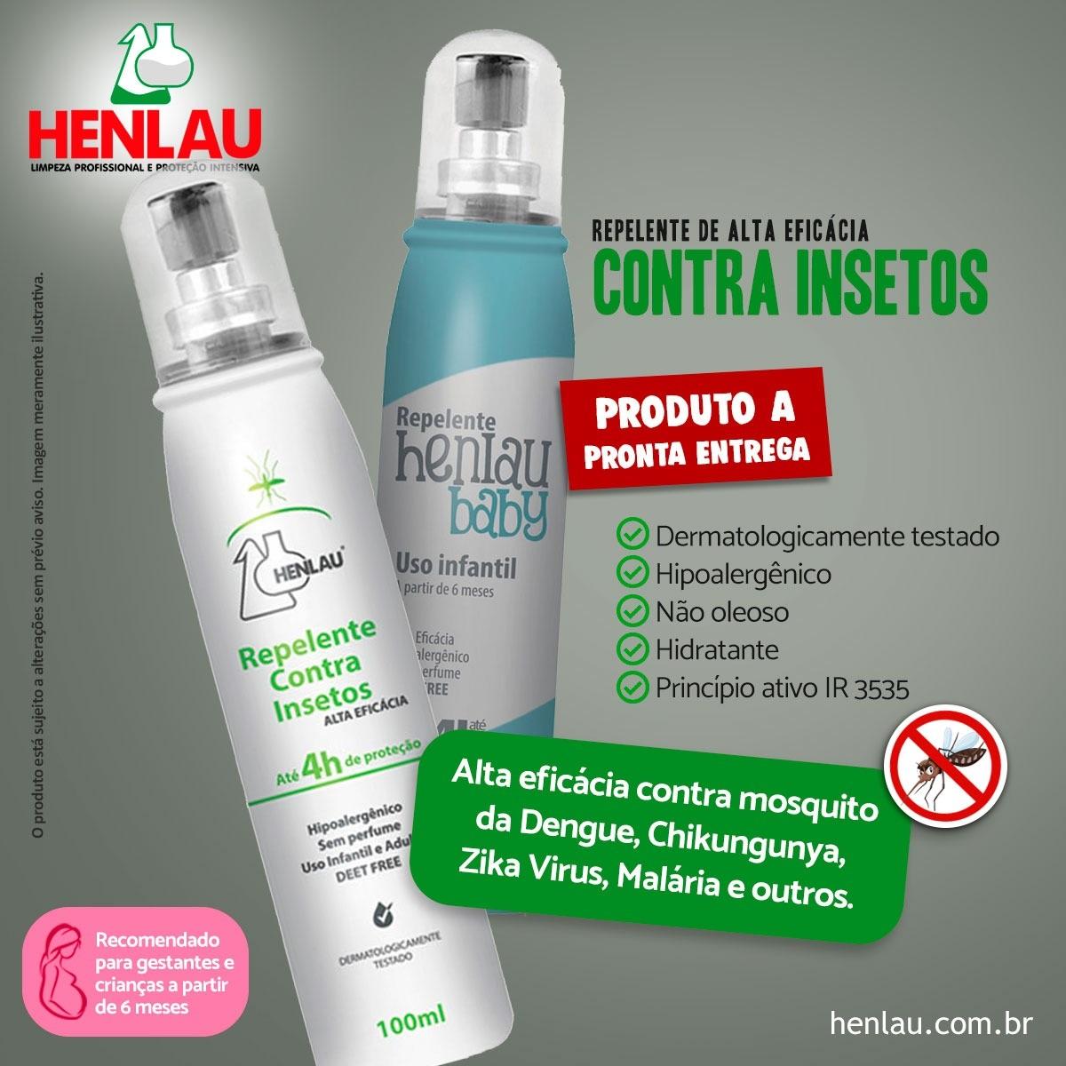 Repelente infantil contra insetos - Baby Spray IR35/35 100ml - Henlau Repelente