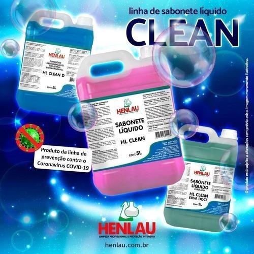 Sabonete líquido desengraxante industrial biodegradável HL Clean D Henlau 5 litros