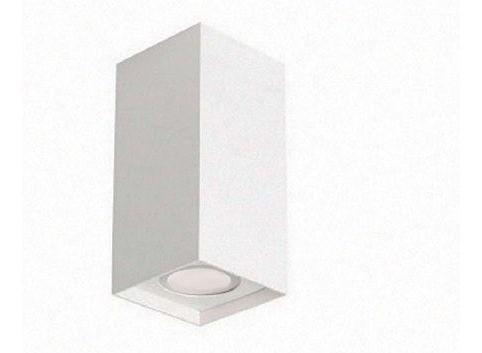 Spot Brava 01109 de sobrepor em alumínio branco texturizado para 1x Lâmapda GU10 76x85mm Acend