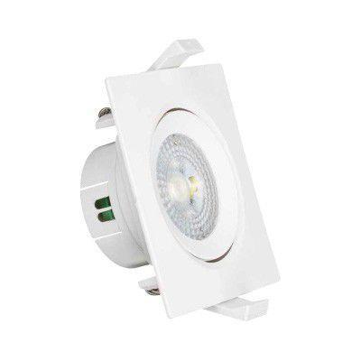 Spot em LED direcionável de embutir quadrado 6500k - 5W - Branco frio - Bivolt