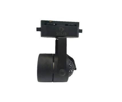 Spot de Led - Luminária de Trilho Eletrificado preto em metal para 1x lâmpada GU10 alt. 117mm x diâm. 55mm