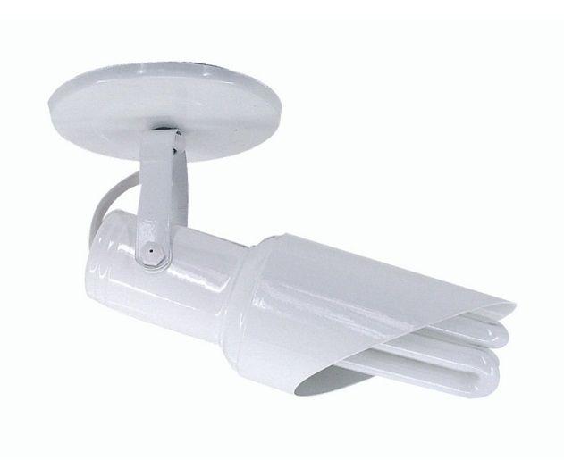 Spot chanfrado de sobrepor em alumínio branco para 1 lâmpada E27 Riopre