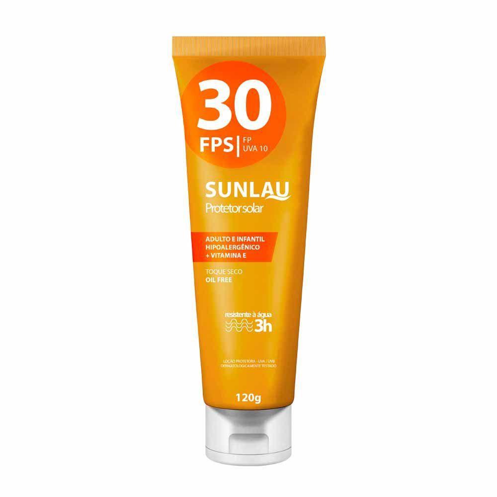 Protetor Solar FPS 30 com Vitamina E Sunlau