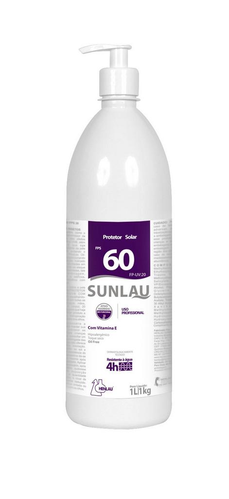 Protetor Solar FPS 60 UVA/UVB com Vitamina E e Bioativo Marinho 1 kg Sunlau - Henlau