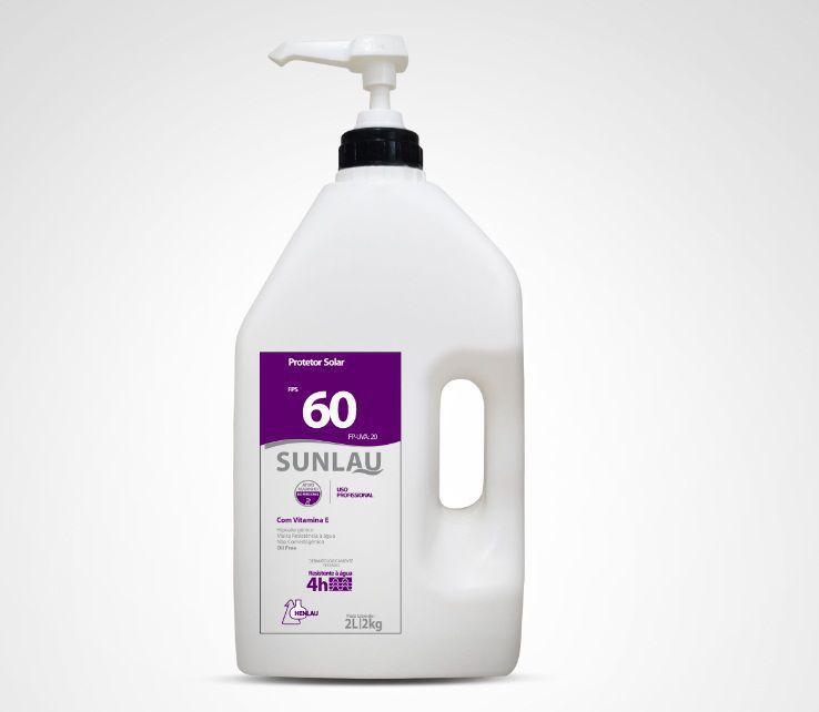 Protetor Solar FPS 60 UVA/UVB com Vitamina E e Bioativo Marinho 2 kg Sunlau - Henlau