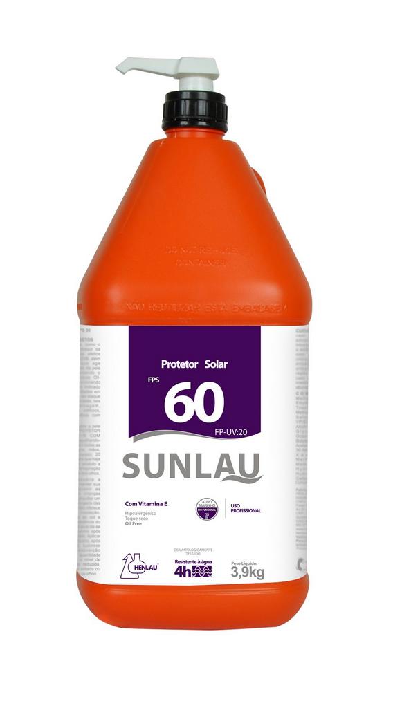 Protetor Solar FPS 60 UVA/UVB com Vitamina E e Bioativo Marinho 3,9 kg Sunlau - Henlau