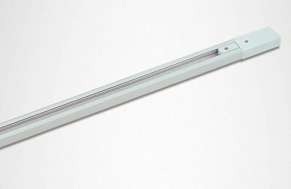 Trilho eletrificado para spot 1 metro Branco