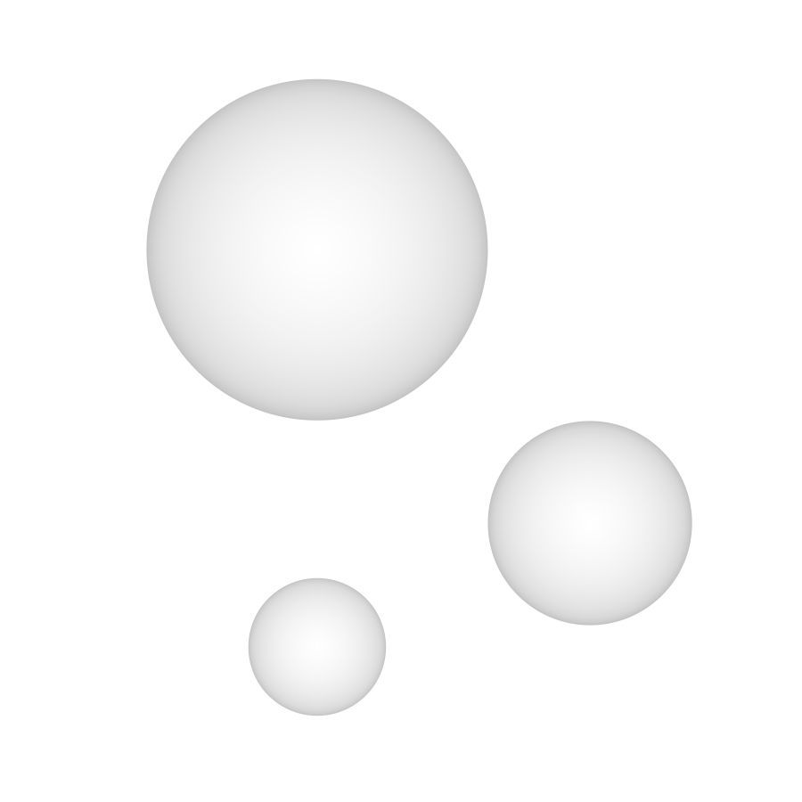 Trio de Arandelas redondas em alumínio branca Pleine Lune New Line IN40022 / IN40023 / IN40024