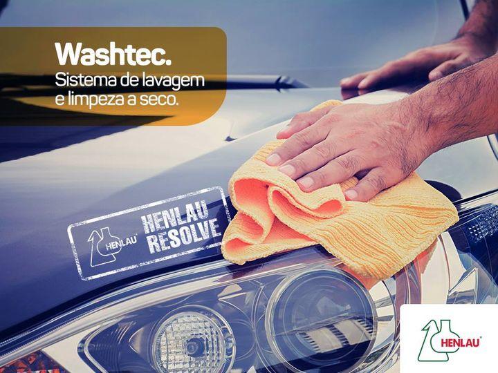 Washtec Cristal - Shampoo automotivo de lavagem a seco - Limpa e encera - 1 litro - Henlau