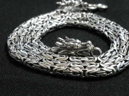 Corrente Cordão Bali Ponto Peruano 4mm 70cm Em Prata 925