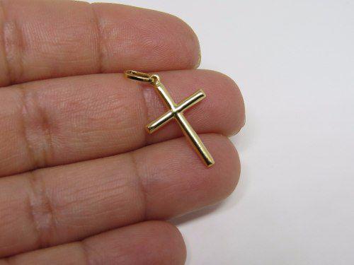 Pingente Cruz Crucifixo 2cm Em Ouro 18k 750