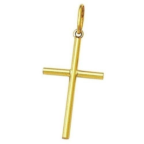 Pingente Cruz Palito Crucifixo Em Ouro 18k 750