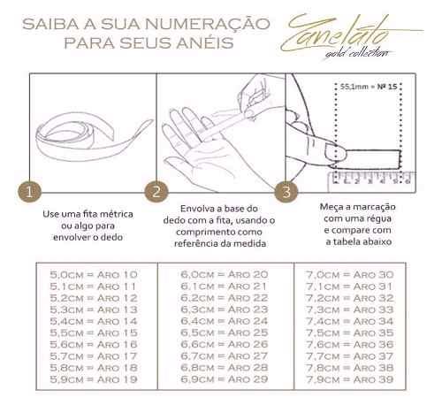 Anel Solitário Pedra 3mm Em Ouro 18k 750