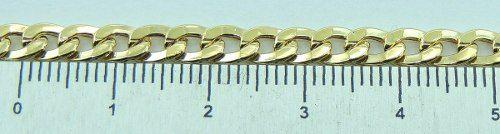 Pulseira Masculina Grumet 21 Cm Fecho Gaveta Ouro 18k 750