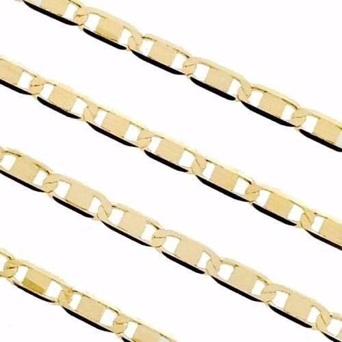 Corrente Cordão Masculino Piastrine 80cm Ouro 18k 750