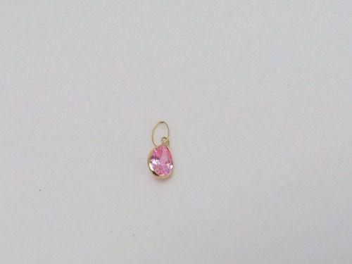 Gargantilha Singapura 45cm Colar Ponto De Luz Gota Rosa Ouro 18k 750