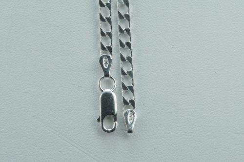 Corrente Cordão Grumet Elo Quadrado 6mm X 70cm Prata 925