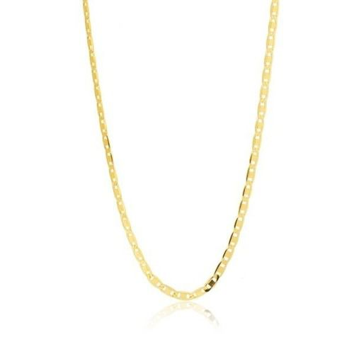 Corrente Cordão Colar Piastrine 50cm Ouro 18k 750