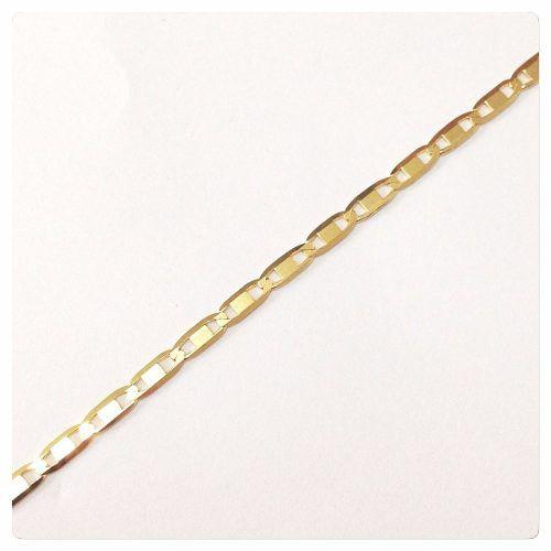 Corrente Cordão Piastrine 45cm Ouro 18k 750