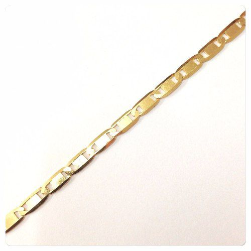 Cordão Corrente Masculina Em Ouro 18k Piastrine Maciça 70cm