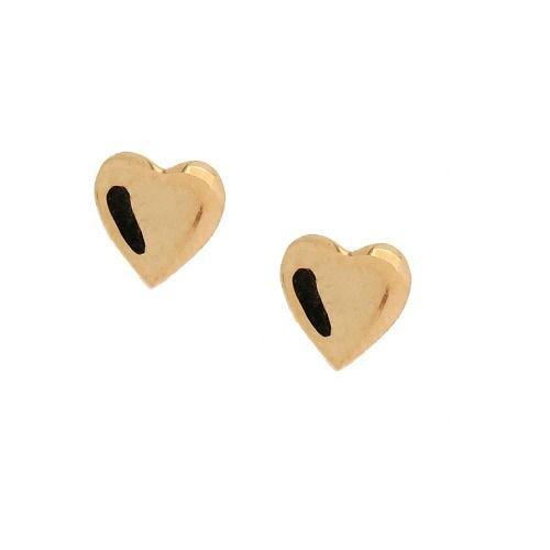 Brincos De Ouro 18k Coração Infantil