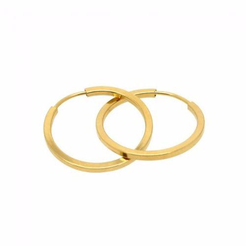 Brinco Mini Argola Em Ouro 18k 750