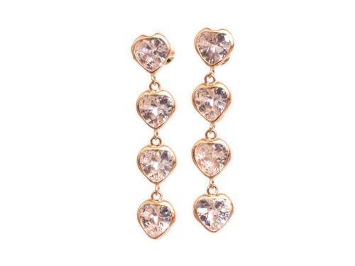 5f85eb73b7d3d Brinco Coração De Ouro 18k 750 Rosa