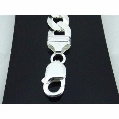 Pulseira Masculina Grossa Grumet Elos 3x1 Figaro Prata 925