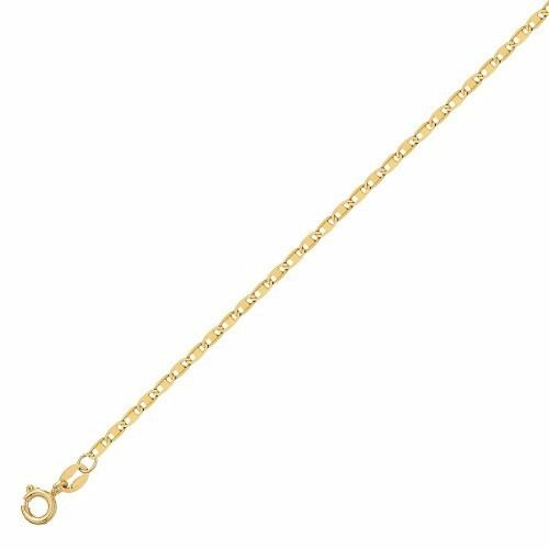 Pulseira De Ouro 18k Feminina 18cm Piastrine
