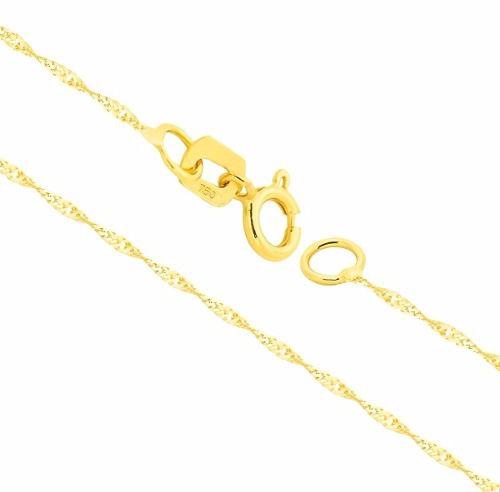 Corrente Colar Cordão Ouro 18k Singapura 45cm