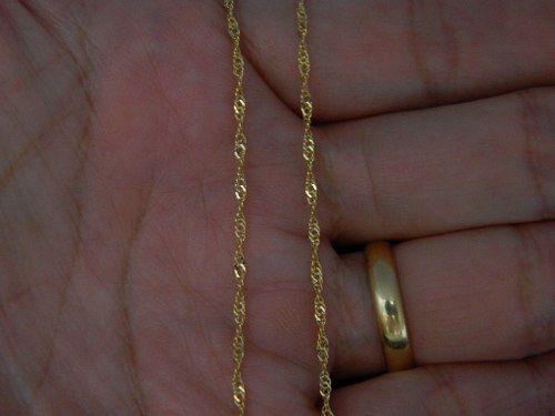 Corrente Cordão Colar De Ouro 18k Feminina Singapura 50cm