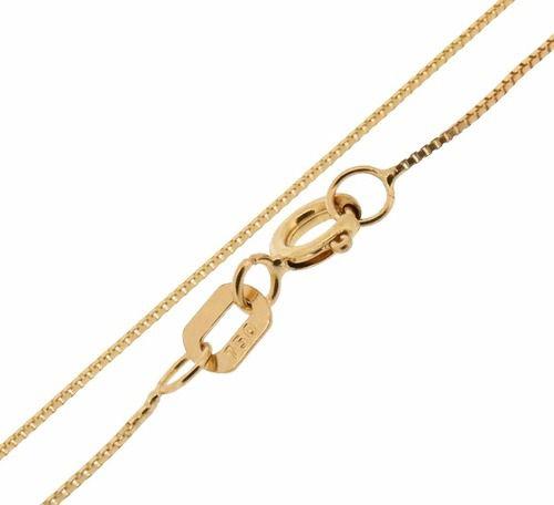 Corrente Cordão Colar Ouro 18k Feminino Veneziana 45cm
