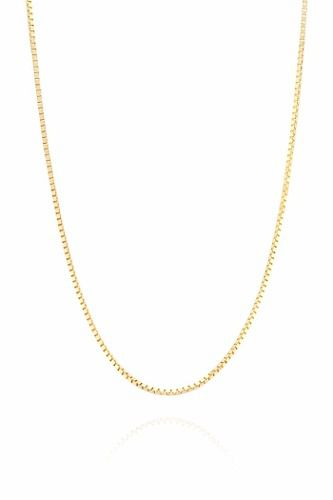 Corrente Colar Cordão Veneziana 60cm Em Ouro 18k