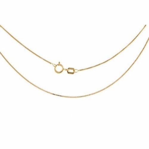 Corrente Cordão Colar Veneziana 50cm Ouro 18k