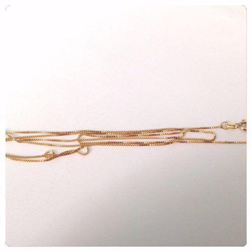 Corrente Cordão Veneziana 60cm Grossa 2.5 Gramas Ouro 18k 750