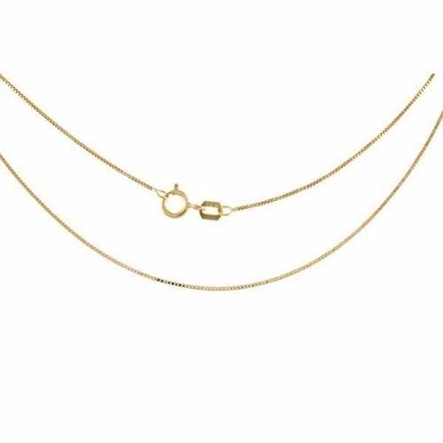 Corrente Cordão Veneziana 80cm Ouro 18k 750