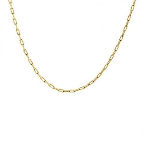 Corrente Gargantilha Colar Feminina Ouro 45cm Ouro 18K 750