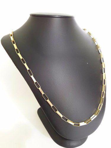 Cordão Corrente Masculina Ouro 18k 750 Grossa 60cm Cadeado