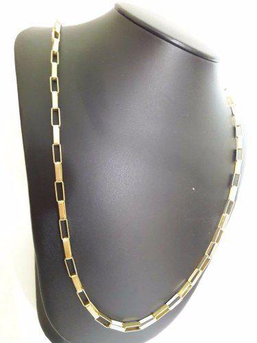 d62a69290 Cordão Corrente Masculina Ouro 18k 750 Grossa 60cm Cadeado - DR JOIAS