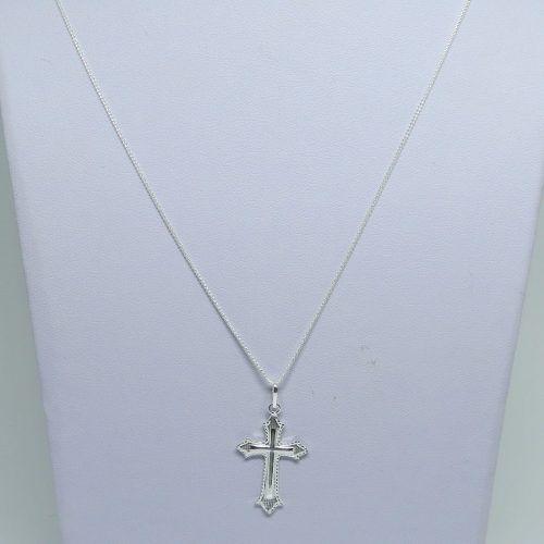 Corrente 3 x 1 Fígaro 3mm Pingente Crucifixo Prata 925 - DR JOIAS 9d77333d93